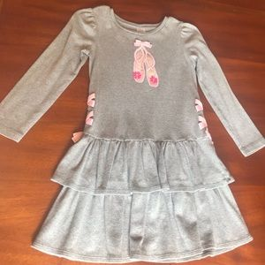 Gymboree size 7 grey cotton dress ballerina